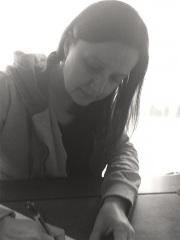 Jessica Raschke writing for her site installation.
