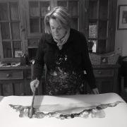 Tracey Miller in studio.