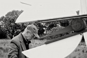 Sculptor Philip Walker at work.