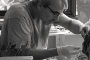 Artist Olivier Mesrobian at work.