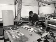 Photographer Clayton Hairs in studio.