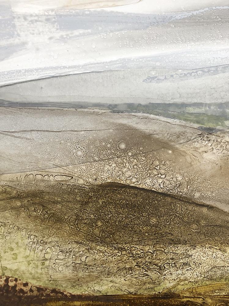 Tracey Miller: <em>Landscape 2</em>, ink on Yuppo paper.