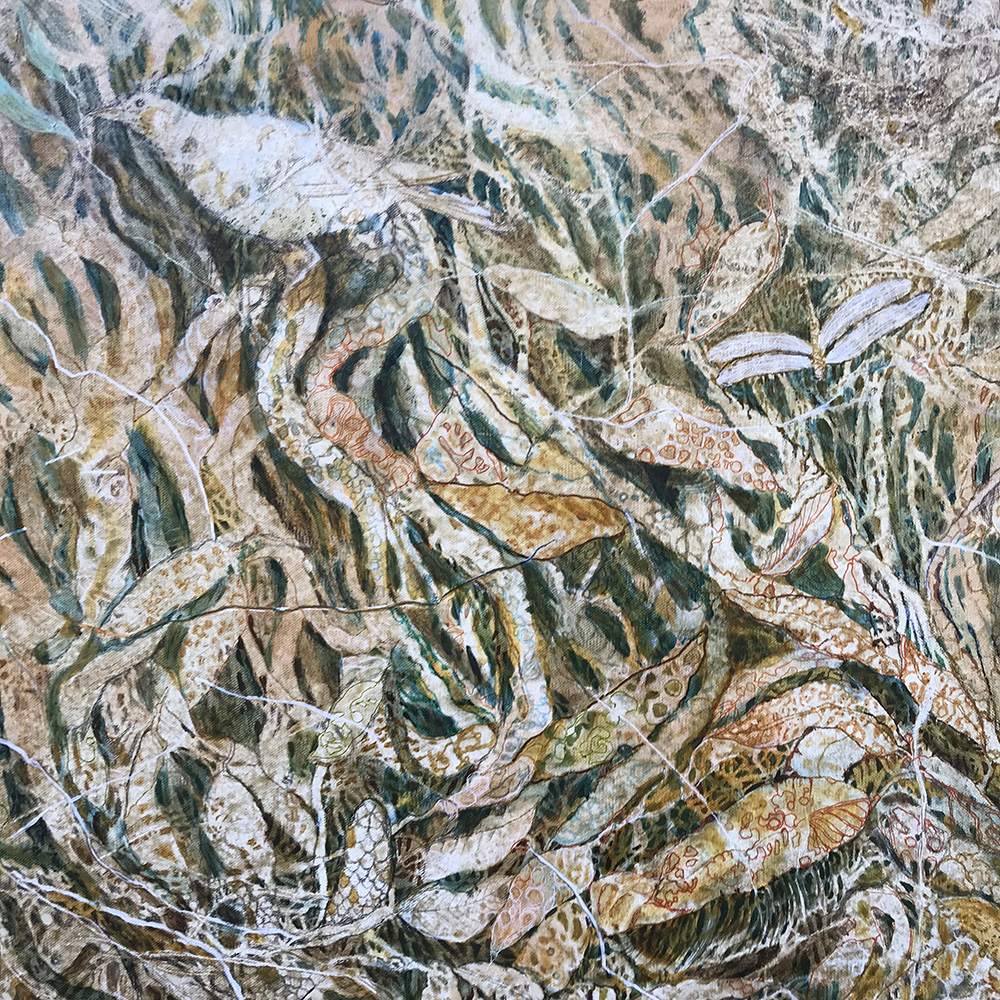 Marlene Murray:  <em>Woodlands</em>, oil on canvas.