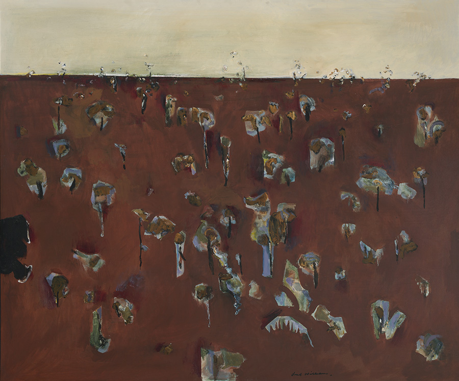 Fred Williams, Water pond in a landsape 1 (1966).