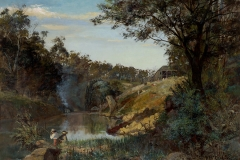 Frederick McCubbin, Sunset glow (1884).