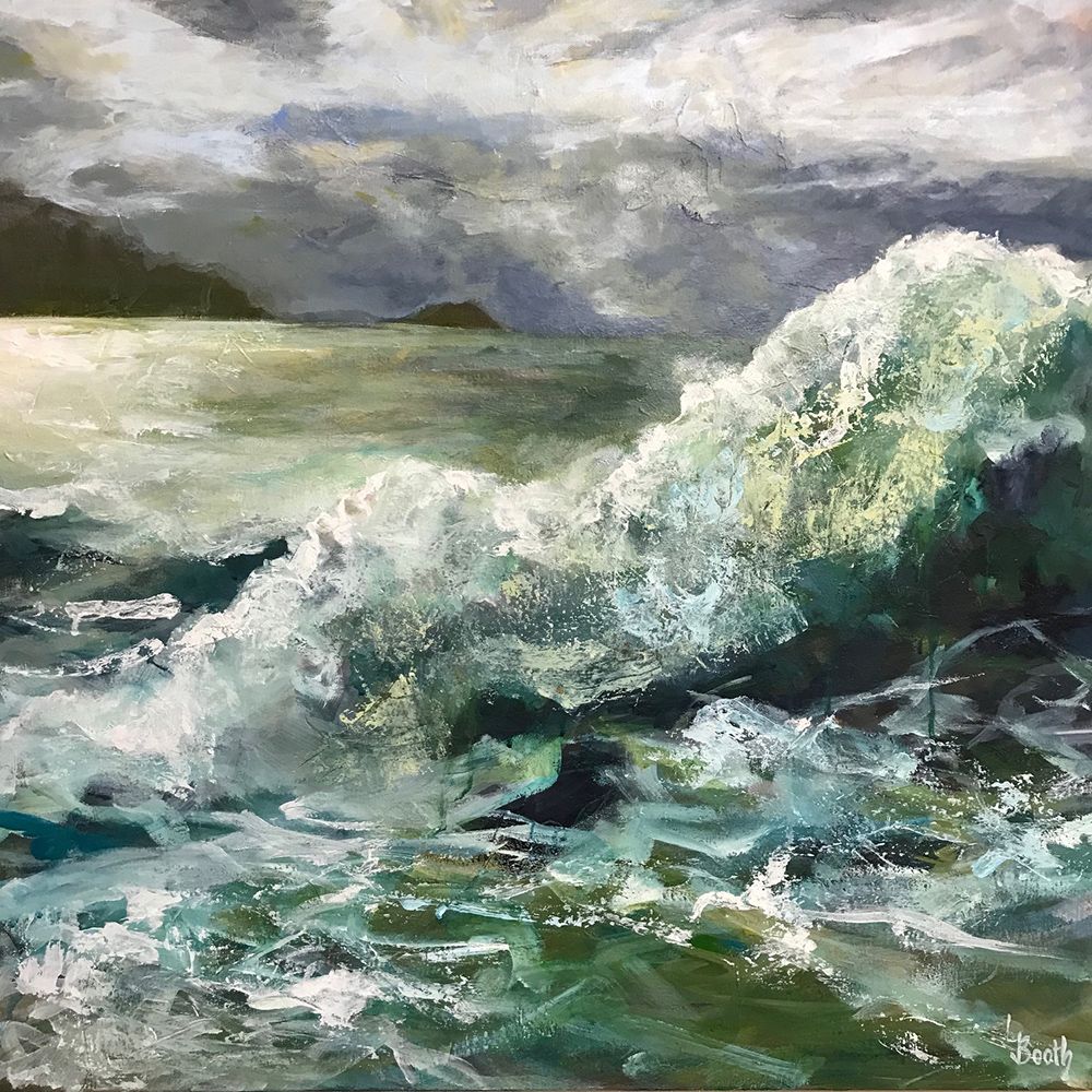 Leanne Booth: The Wave, mixed media