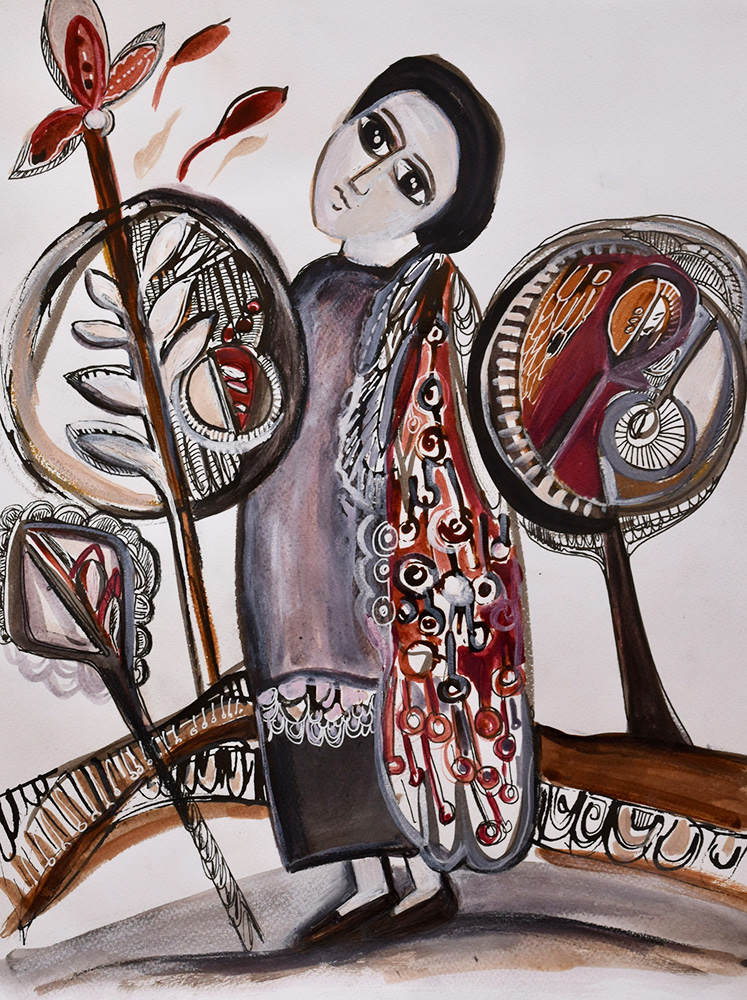 Slavica Zivkovic: Mystical Knowledge, ink and gouache on paper