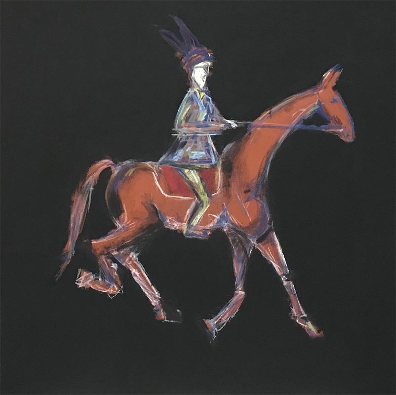 Scott Pollock: Saturday Morning Hack, acrylic and soft pastel on canvas