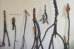 Britta Stenmanns: Attitude, hand carved hardwood, varnish, gold leaf and acrylic wall pieces