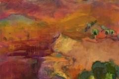 Penelope McManus: Ross River, Central Australia, acrylic on canvas
