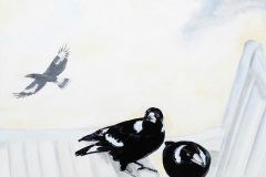 Peter Baron, #17 Maggie Duo With Flighty, acrylic on canvas