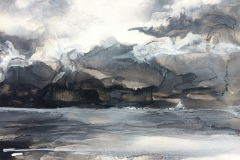 Tracey Miller: The Bay, ink on yupo